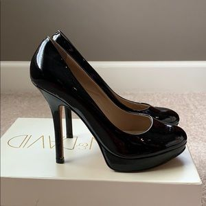 Joan and David, DVFLIPP Patent leather pumps